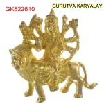 Brass Durga 433 Gram 9.5 CM