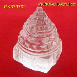 134 CT Natural Crystal Shree Yantra | Sphatik Shri Yantra | Shree Maha Laxmi Yantra