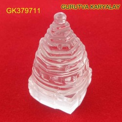 72.15 CT Natural Crystal Shree Yantra | Sphatik Shri Yantra | Shree Maha Laxmi Yantra