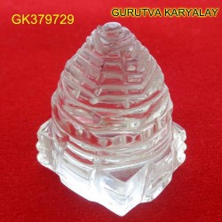 75 CT Natural Crystal Shree Yantra | Sphatik Shri Yantra | Shree Maha Laxmi Yantra