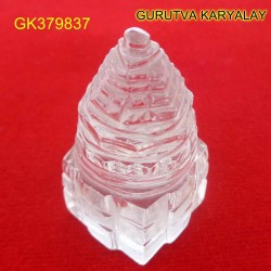 95 CT Natural Crystal Shree Yantra | Sphatik Shri Yantra | Shree Maha Laxmi Yantra