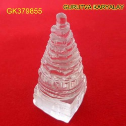 118 CT Natural Crystal Shree Yantra | Sphatik Shri Yantra | Shree Maha Laxmi Yantra