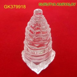94 CT Natural Crystal Shree Yantra | Sphatik Shri Yantra | Shree Maha Laxmi Yantra