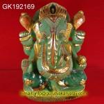 Natural Green Jade Ganesh 2.5Kg-2539 Gram Real Jade Panna Ganesh Statue Ganesha