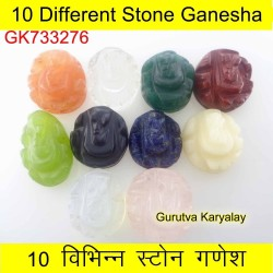 10 Pcs (146 ct) Multi Stone Ganesha