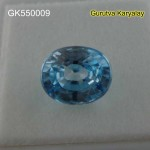 RATTI-4.60(4.17CT) LAB TESTED NATURAL BLUE ZIRCON BLUE ZIRCAN VENUS GEMS ZIRCON