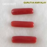 Ratti-11.00 (10.00CT) 3 Pcs Red Coral Seller Pack