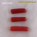 Ratti-11.35 (10.30CT) 3 Pcs Red Coral Seller Pack