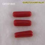 Ratti-11.44 (10.35CT) 3 Pcs Red Coral Seller Pack