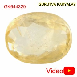 Ratti-6.25 (5.66 CT) Yellow Sapphire Good Quality Pukhraj