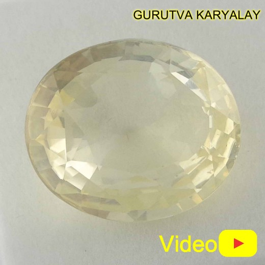 Ratti-11.17 (10.11 CT) Yellow Sapphire Pukhraj Exclusive Collection