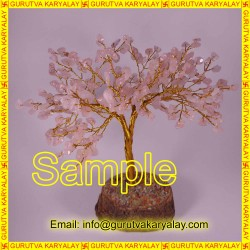 8 Inch Natural Rose Quartz Tree For Love-Harmony-Infinite and sense of Security