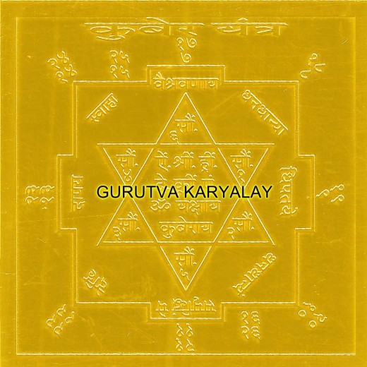 Kuber Yantra Premium Quality 1.5x1.5 Gold Plated
