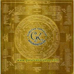 Mantra Siddha Sampoorna Shree Yantra | Gold Plated Shri Yantra | Sampurn Shree Yantra
