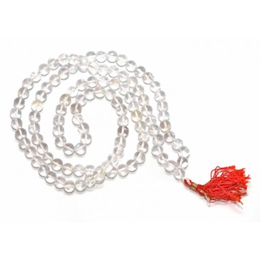 6-7 MM Crystal Mala 108+1 Beads Premium Quality