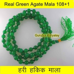 6 mm Green Agate Mala 108+1 Beads