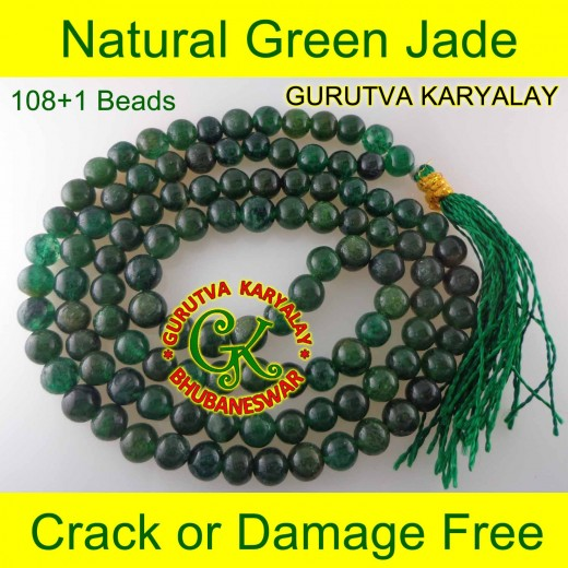 7-8 MM Green Jade Mala