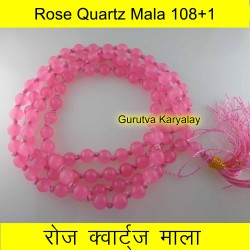6 mm ROSE QUARTZ MALA 108+1 BEADS
