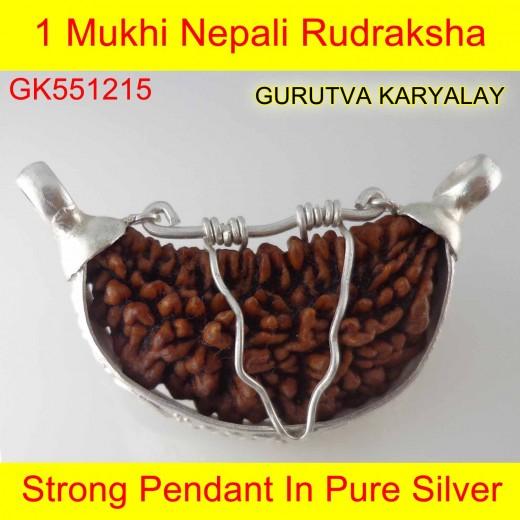 32mm 1 Mukhi Rudraksha In Silver Pendant