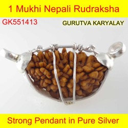28.45mm 1 Mukhi Rudraksha In Silver Pendant