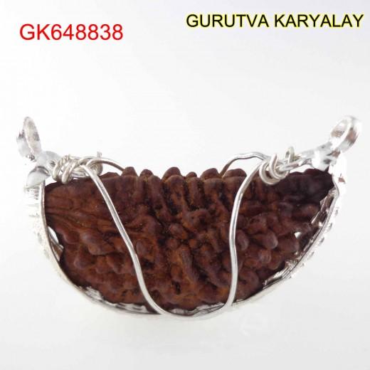 37.09 MM 1 Mukhi Rudraksha In Silver Pendant